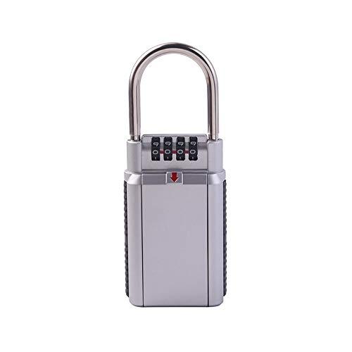 XXLYY SchlüSsel Aufbewahrungsbox Organizer Passwort Schloss 4-Stelliges Kombinationsschloss Geheime Sicherheit VorhäNgeschloss Diebstahlsicherung, Silver - Elektronische Passwort-organizer