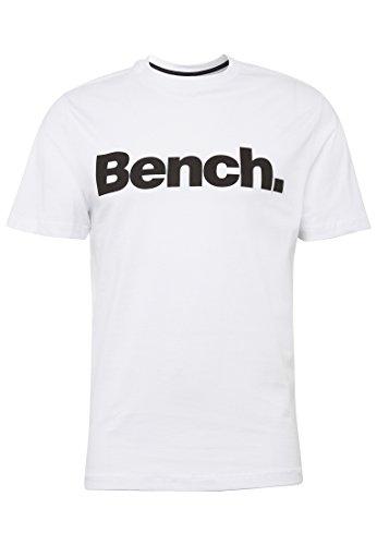 Bench Herren T-Shirt Basic Corp Tee Weiß (Bright White Wh11185)