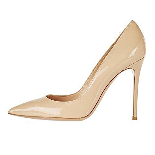 EDEFS - Scarpe col tacco donna - High Heels Sexy - Decolte Donna Tacco Alto - Tacchi a Spillo Nude