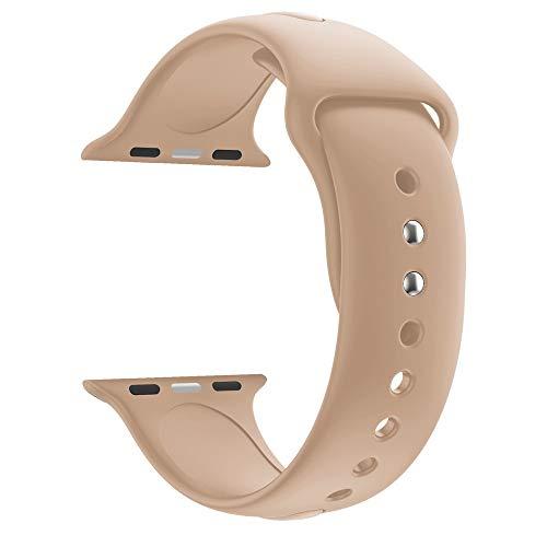 Vamoro Ersatz-Sport-Silikon-Uhrenarmband Armband, Alta Armband Weiches Verstellbares Sport Ersatzarmband Fitness Zubehörteil für Apple Watch Series 4 44MM(Türkis) - Pulsar-kautschuk-armband-uhr