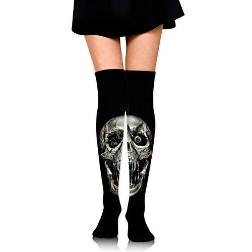 HRTSHRTE Halloween Screaming Vampire Skull Scary Ankle Stockings Over The Knee Sexy Womens Sports Athletic Soccer Socks (Halloween Mädchen Screaming)
