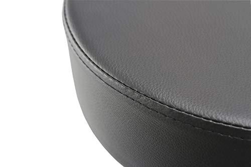 Duhome sgabello girevole similpelle nero sedie girevole regolabile
