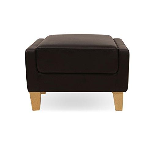 Ylydengz zhdc® sgabello per divano sgabello scarpa moderna e semplice sgabello piccolo sgabello sgabello sgabello basso in pelle da 60 cm sgabello pigro (colore : nero)