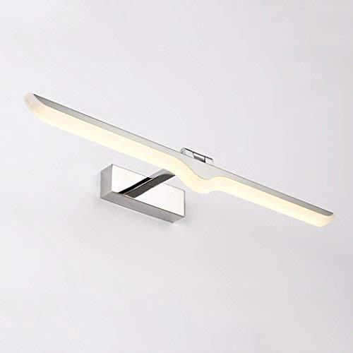 QSJZ Mirror Cabinet Mirror Lamp Bathroom Wall Lamp LED Mirror Lamp Bathroom Mirror Lamp Mirror Headlight (Color : Warm Light, Size : 42cm) -