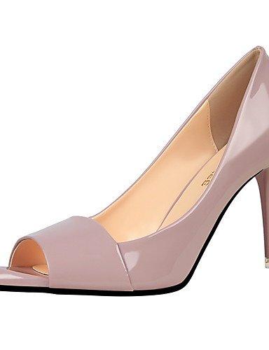GS~LY Da donna-Tacchi-Formale-Tacchi / A punta / Aperta-A stiletto-Finta pelle-Nero / Viola / Rosso / Argento / Grigio / Verde chiaro gray-us8 / eu39 / uk6 / cn39