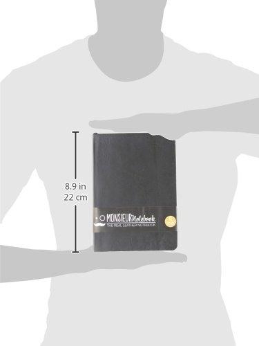 Monsieur Notebook Black Leather Dot Grid Medium
