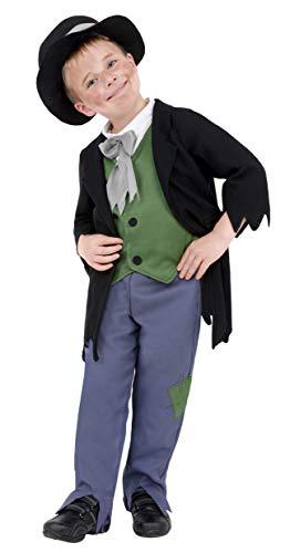 Smiffys Kinder Zwielichtiger Viktorianischer Junge Kostüm, Oberteil, Hose und Hut, Größe: M, - Viktorianischer Hut Kostüm