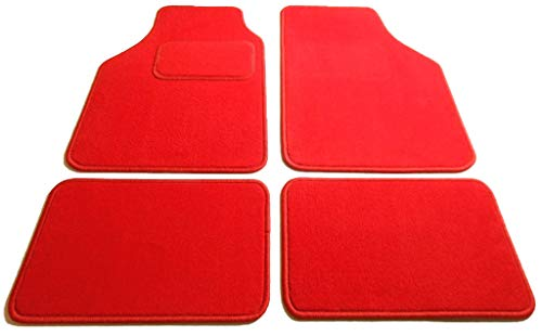 Textile-Deluxe 29030-JAVA-ROT Rio 07/00-08/05 4 Tapis, Velours Rouge