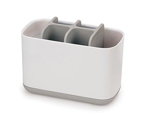 Easy-Store - Großer Zahnbürstenhalter - weiß/grau