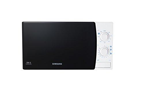 Samsung Ge711K/Xec - Microondas con grill de 20 L, interior de cerámica, 1100 W, color negro y blanco