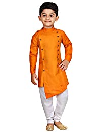 Kashvi Boy's Cotton Kurta Pyjama Dress Set