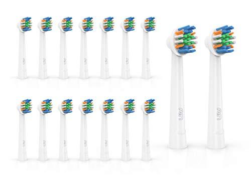 FLM FlossAction Ersatzbürstenköpfe für Braun Oral B, 16 Stück YE625 -