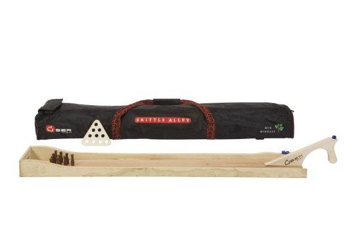ubergames-mini-bowling-kegeln-bahn-aus-eco-hartholz-10-kegeln-transport-aufbewachrungstasche-und-5-m