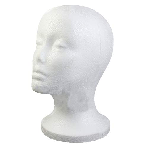 JAGETRADE Weibliche Schaum Perücke Haar Hut Brille Display Schaufensterpuppe Männchen Styropor Kopf Modell -