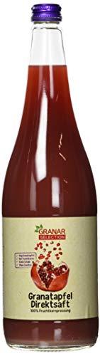 Granar 6 x 1 Liter Granatapfel Direktsaft aus Granatapfelkernen, Naturtrüb, Kaltgepresst, Ungefiltert 100% Granatapfelsaft
