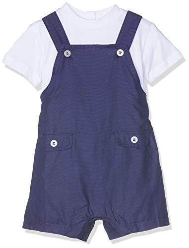 Chicco Completo T-Shirt Manica Salopette Corta Peto Bebe, Azul (BLU Medio 085),...