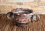 Berk Räucherschale Azteke, rot/braun Ø 12 cm.