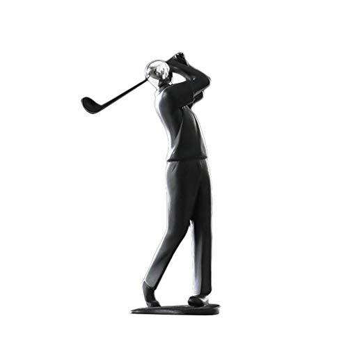 Cxmm Modernen minimalistischen Harz Sport Figuren Skulptur Dekorationen Wohnzimmer Schlafzimmer kleine Ornamente Desktop abstrakte Handwerk (Größe: Golf) -
