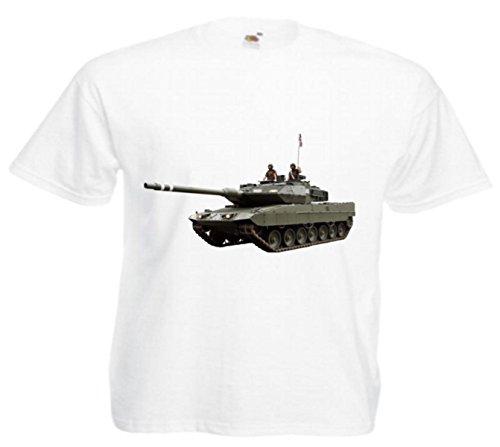 Motiv Fun T-Shirt Panzer Tank Kanone Krieg Game Motiv Nr. 3945 Weiß