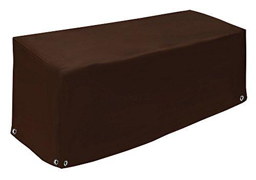 Lounge Bank – Couverture | robuste et durable Capot de protection | Coque de protection étanche pour meubles de jardin | Bâche de bâche de camion (650gr/M²) | 14 couleurs 250x100x70 chocolat