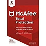 Mcafee Total protection 3 DEVICES 2018 (Download link and activation key via Amazon Message in 1 hour of purchase)
