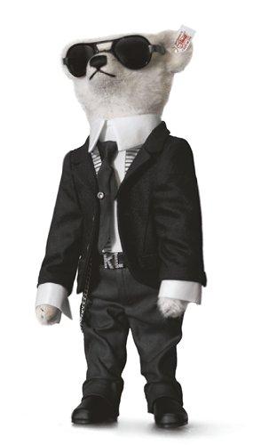 657726 - Steiff - Limitierungen - Teddybär Karl Lagerfeld - 40 cm schwarz/weiß