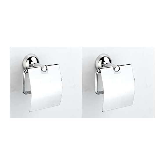 U-S-F BATH ACCESSORIES Torin 304 Stainless Steel Toilet Paper Roll Holder , Silver Finish - Pack of 2