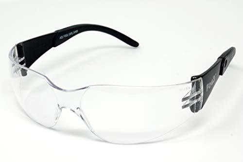 FOG3 Klare Antibeschlag-Motorrad-Sonnenbrille/Bikerbrille - Bruchsichere UV400 Rundum-Sonnenbrille inkl Aufbewahrungstasche - Ideal für Winter bei wenig Licht und bedeckten Fahrbedingungen.