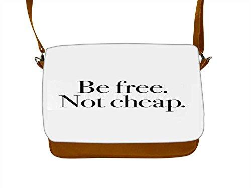 Snoogg Be Free nicht Billig 43,2cm Zoll auf 44,5cm Zoll auf 44,7cm Zoll Kunstleder Laptop Notebook Schuber Sleeve, der Fall mit und Schultergurt für MacBook Pro Acer Asus Dell HP Sony Toshiba (Toshiba Laptop Billig)