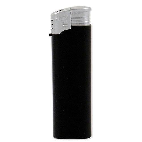 Feuerzeug Einweg Atomic Electronic aus Kunststoff in schwarz silber 50 Stück