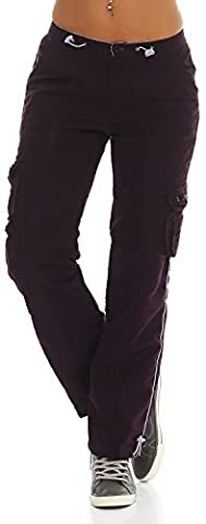 SUCCESS Mädchen Cargo Hose Casual Wear Chino Stoff Hose 5 Pocket Regular Fit Freizeithose 2589 (158, Purple)