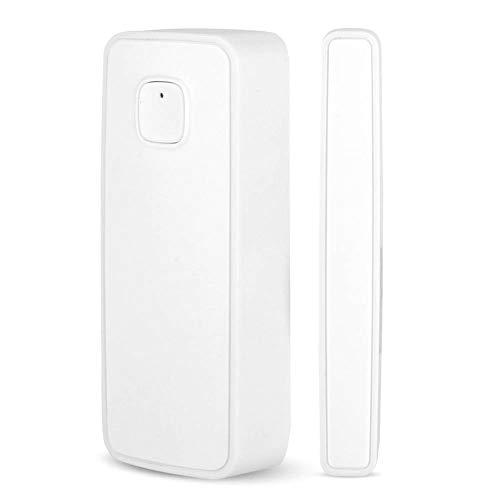 Tür und Fenstersensor, WiFi Intelligenter Alarm-Sensor drahtlose Alarmanlage Haussteuerung, per iOS/Android App (weiß)