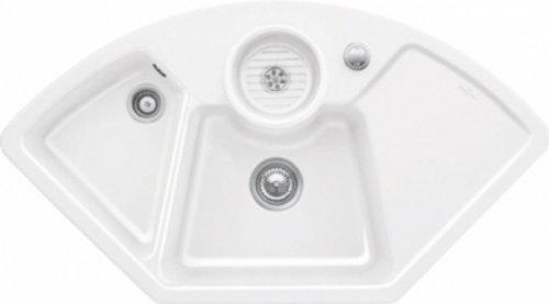 Villeroy & Boch Solo Eck Weiß (alpin) Keramik-Spüle Küchenspüle Eckspüle Auflage