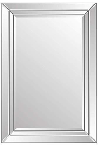 MirrorOutlet Espejo de Vestido de Resina Biselado clásico Elegante de Gran tamaño Dorado