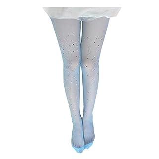 Letuwj Damen Sparkle Strass Strümpfe Strumpfhosen Netzstrumpfhose Blau Einheitsgröße