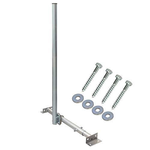 PremiumX Basic X120-48 SAT TV Teleskop-Dachsparrenhalter 120 cm Mast feuerverzinktes Stahl Dach-Sparren-Halterung für Satelliten-Antenne Satellitenschüssel inkl. Befestigung Holz-Schrauben - Dach-antenne-tv