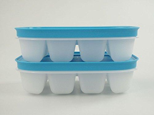 TUPPERWARE Eiswürfler mini Gefrier-Behälter Eiswürfel Eis hellblau (2) 11285