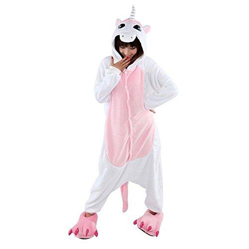 WOWcos® Pijama para adultos unisex, diseño de Pikachu rosa Unicornio Rosa L