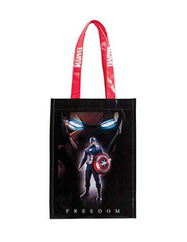 COOLMP - Lote de 6 Bolsas de plástico para Caramelos de Capitán América Civil War - Talla única - Decoración y Accesorios de Fiesta, animación, cumpleaños, Boda, Evento, Juguete, Globo