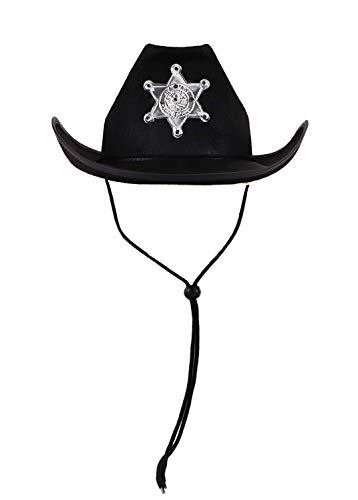 1 X Schwarz Cowboy Hut mit Stern Junggesellenabschieden/Parteien/Kostüm Spaß