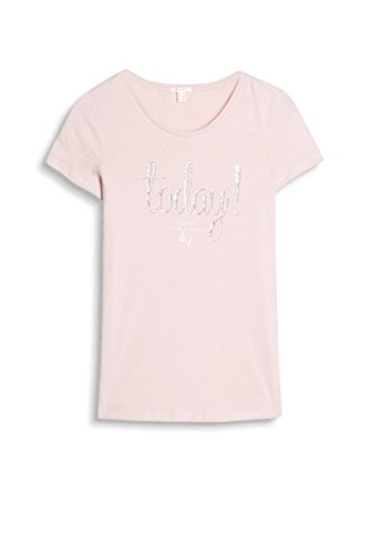 Esprit 037ee1k029, T-Shirt Femme Rose (Light Pink)