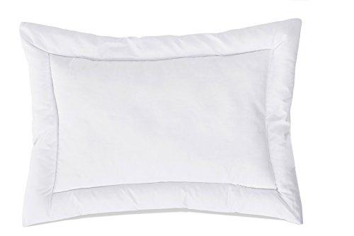 ZOLLNER kochfestes Babykopfkissen / Kinderkissen / Kopfkissen versteppt, Größe 40x60 cm weiß, direkt vom Hotelwäschehersteller, Serie 'Bambini'