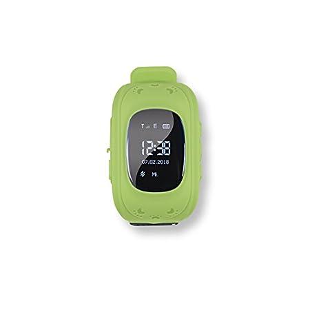 EASYmaxx Kinder Smart Watch Mit GPS Funktion | Smartwatch Für Jungen Und Mädchen Mit GPS, SOS Telefon, Standortlokalisierung, Tracker | Elektrisches Digital Armband Ohne Handy verwendbar [Grün]