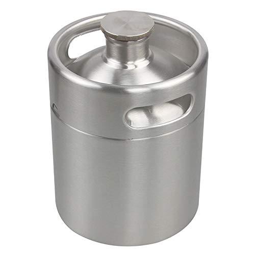 lymor 64Unze Mini Edelstahl Homebrew Kaffee Keg System Kit Nitro, Kalten Brew Kaffeemaschine, beste Geschenk für Kaffeeliebhaber Coffee Keg ONLY silber - Homebrew-keg-kit