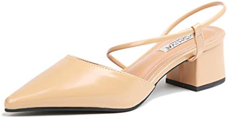 KOKQSX-i Sandali puntata Retro Wild Armati High Heeled scarpe. scarpe. scarpe. trentotto Coloreee Albicocca | Chiama prima  fd317a