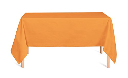 Preisvergleich Produktbild uni Tischdecke Tischtuch 40FARBEN! PFLEGELEICHT Modern Rechteckig (Orange 6, 140x220cm)