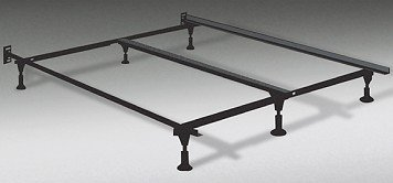 Heavy Duty King Metal Bed Frame with Center Support and 6 Glide Supports Fully Adjustable Queen, King, Cal King by Soft Sleeper