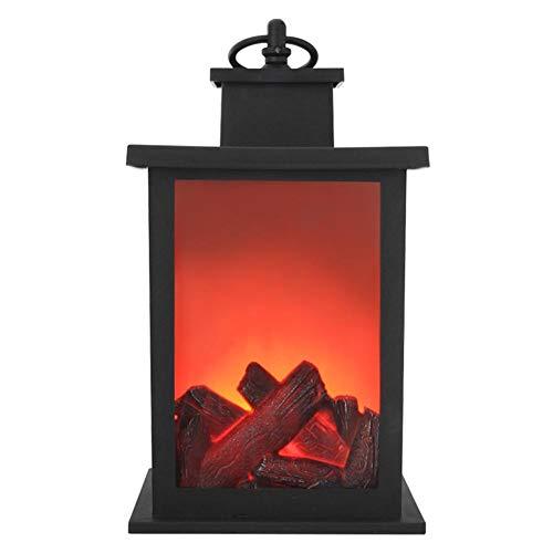 Innersetting LED Flame Lantern Lamps Chimenea simulada