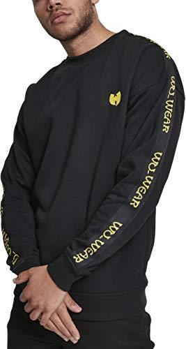 Wu Wear Herren Tape Chest Embroidery Crewneck Sweatshirt, Black, M City Crewneck Sweatshirts