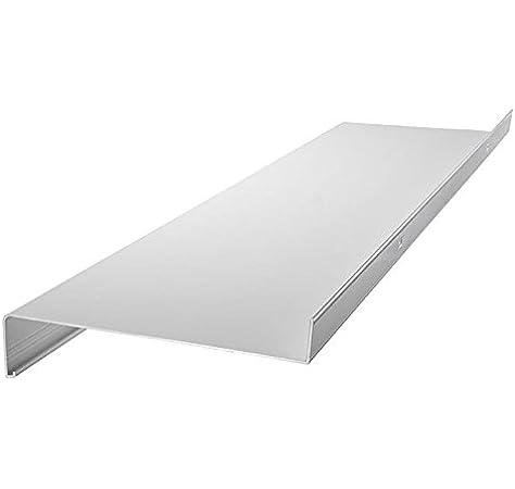 Fensterbrett 150 mm Tief Silber Ohne Seitenteile 1500 mm Lang Fensterbank